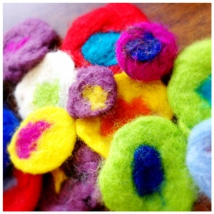 Felted Flowers - Perfect Activity for Little Ones